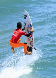 Felipe Toledo (Brazil) pulls a Superman on the reform ~ U S Open of Surfing