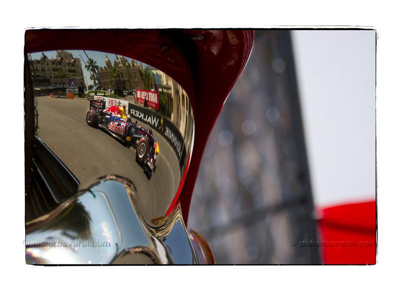 *legende* 69 ieme Grand Prix de Formule 1 de Monaco, premieres seances d essais. Sebastian Vettel devant le Casino