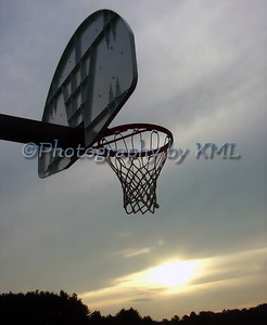 Hoop at Sunset