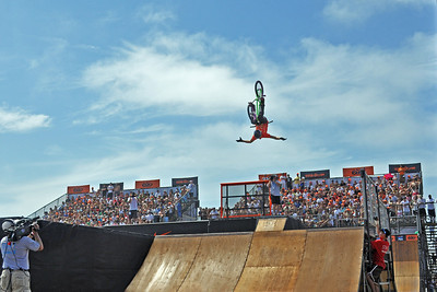 Plain Crazy - Andy Buckworth competes in the  6.0 HB BMX Pro - Huntington Beach, CA