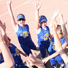 Members of the Charleston Chill ten and under softball team gather for a pre-game cheer at the Mattoon Softball complex in Mattoon, Illinois on Friday June 5, 2009. (Jay Grabiec)