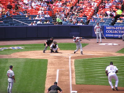 "Mets vs Atlanta Braves ""06"" - Andrew Jones's ball in flight by batter's box."
