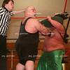 Professional wrestlers perform in the Grand Ballroom at Eastern Illinois University in Charleston, Illinois on February 17, 2007. (Jay Grabiec)