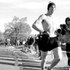 Jay Grabiec/The Daily Eastern News<br /> Jeremy Wheeler, a sophomore accounting major, finshes the homcomming 2.5K race in first place with a time of 7:33 before the homecomming parade on Saturday morning.