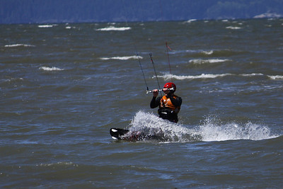 Kite surfing, English Bay, Vancouver