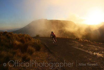 Cyclist on Port hills, Christchurch