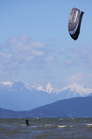 Kite surfing, English Bay, Vancouver