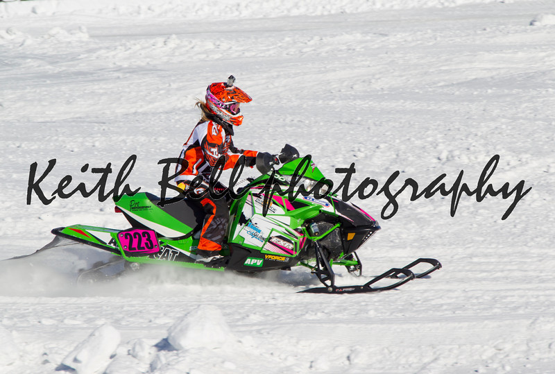 Neon Green Arctic Cat #223 Snowmobile Racing