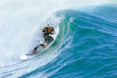 Rob Machado in the barrel - 2011 U S Open