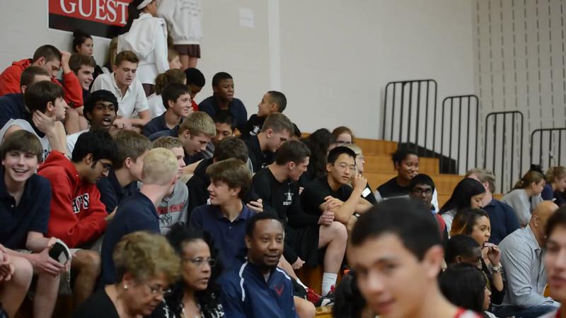 St. John's high school senior basketball player Justise Winslow committed to Duke University at an all-school ceremony. Thu., Nov. 21, 2013. Houston, Tex. (Kevin Long / GulfCoastShots.com)