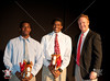 St. John's School presents a review of the year's varsity teams and awards for the 2010-11 season at Liu Court to an audience of 650. Here Sam Chambers presents the Mucho Maverick awards to brothers Josh and Justise Winslow.