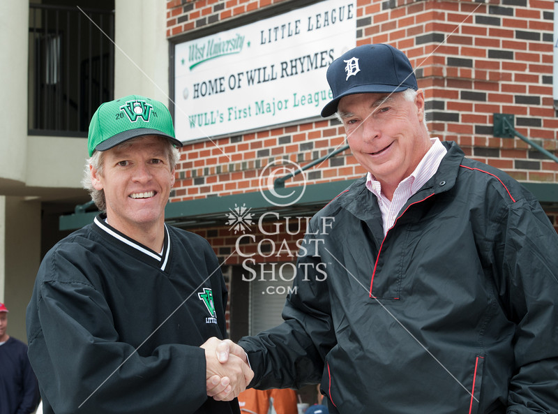 In a ceremony to kick off the season for the nation's largest Little League, the father of Will Rhymes, the first WULL player to make it to MLB, tosses out the ceremonial first pitch.