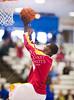 St. John's Mavericks play Yates' Lions at Barnett Fieldhouse for game 18 of the 71st annual Houston ISD winter boys basketball tournament. Yates wins 74-50