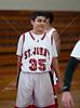 St. John's JV2 scarlet Maverick boys basketball team hosts Houston Christian High School's Mustangs. Mavs win.