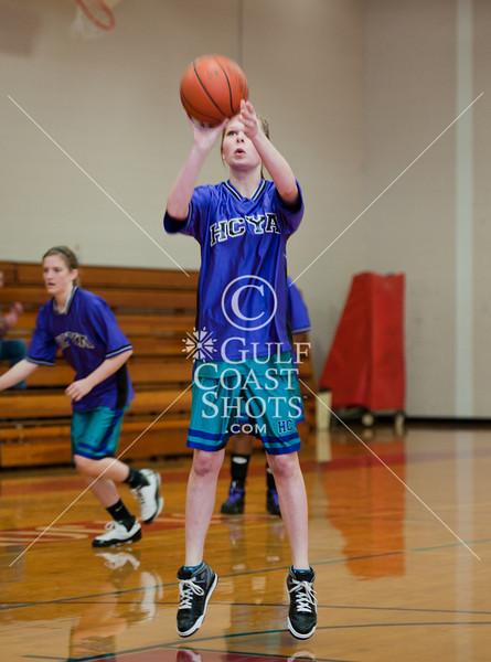 St. John's 7th grade A team girls host the HCYA Warriors in basketball. HCYA wins.