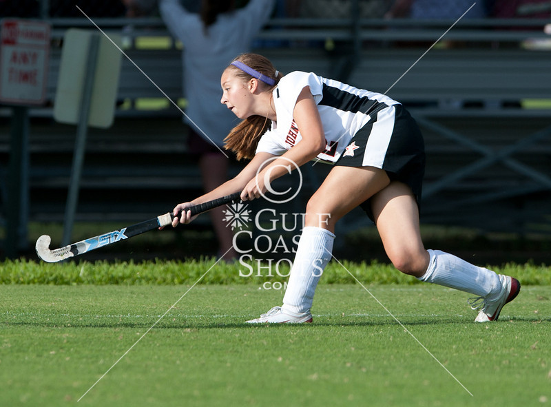 Kinkaid's Lady Falcons bring their JV2 team to Scotty Caven Field at St. John's School for a game of Field Hockey against the Mavericks.  SJS wins 5-0 under spotty weather.