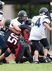 The Crusaders of Concordia Lutheran's JV2 football team plays the Mavericks of St. John's JV squad in a season opener. Mavs win.