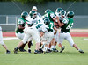 Strake Jesuit's Crusaders play a green/white football scrimmage in a late Spring game.