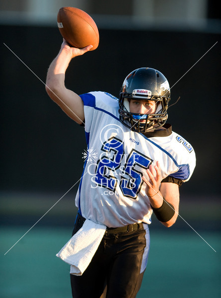 The Eagles of St. Thomas High School host Houston Christian HS's Mustangs in varsity football. STHS wins a tight game.