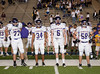 Kinkaid's Falcons meet host St. John's Mavericks at Rice Stadium in SPC varsity football play. Kinkaid wins, advancing to the SPC championship game against Holland Hall.