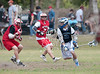 Memorial's Mustangs play Houston Christian High School's Mustangs in a varsity boys lacrosse matchup at Gullo Park as part of the 4th annual Mudslinger's Lacrosse tournament hosted by Texas Heat Lacrosse.