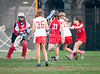 Rover Oaks Baptist School's Lady Raiders field their 8th grade lacrosse team against St. John's Mavericks. Playing at Scotty Caven Field, the Mavs win it 9-4.