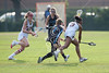 St. Andrew's and St. John's played all varsity field teams in SPC Spring action at SJS's campus, including this match of varsity girls lacrosse. The home team Mavs win over Crusaders.
