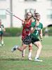 Nationally-ranked St. Stephen's & St. Agnes School of Alexandria VA toured Texas for their Spring Break in a tour of girls varsity lacrosse teams. Here they play St. John's School, where the Lady Mavs fell 9-19 to the Saints at Scotty Caven Field.