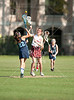 The Dolphins of Anunciation Orthodox School play the 7th graders from St. John's in girls lacrosse. Mavs win 5-3.