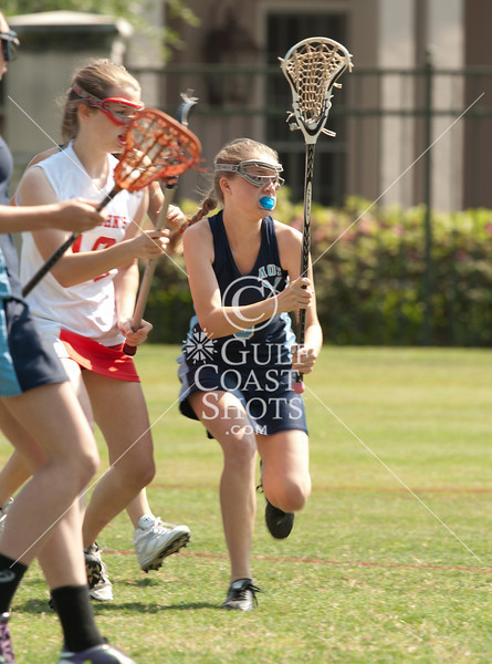 The Angels of Anunciation Orthodox School play the 8th graders from St. John's in girls lacrosse. Mavs win 10-7.