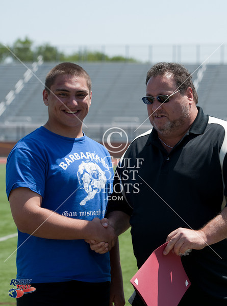 Awards are given out at noon during day 1 of the 2011 Rugby Texas High School State Championships at Strake Jesuit College Prep, Houston