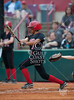 The Lady Cardinals of Bellaire HS take the visitor's dugout against the Pearland Oilers in the Texas UIL 5A Region 3 Regional Quarterfinals at the University of Houston Softball Stadium. Pearland wins 6-5.