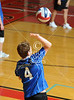 Houston's St. John's School hosts 12 mostly SPC teams in a 2-day Houston Cup men's varsity volleyball tournament. Here the Kinkaid Falcons play the Episcopal Knights.