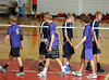 Houston's St. John's School hosts 12 mostly SPC teams in a 2-day Houston Cup men's varsity volleyball tournament. Here Kinkaid's Falcons plays HVA.