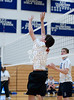 Boys JV Volleyball Teams from St. John's and Episcopal High School compete in SPC play at Crum Gym on the EHS campus. SJS's Mavericks sweep the Knights in 3.