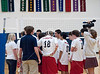 Boys Varsity Volleyball Teams from St. John's and Episcopal High School compete in SPC play at Crum Gym on the EHS campus. SJS's Mavericks sweep the Knights in 3.
