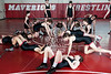 St. John's upper-school wrestlers pose for a team portrait