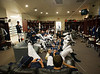 The Owls locker room looks like the ideal man cave in which to relax to wait out a lengthy rain delay. It's a rainy Opening Day at at Reckling Park as the Rice Owls host the Florida International University Panthers in D1 baseball. Rice waits it out and gets a late 7:05 start on a 4:30 game and gets in all 9, besting the Panthers in the first of 3, 6-2. Fri., Feb 17, 2012. Houston. (Kevin B Long / Associated Press)