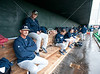 The FIU Panthers wait out the rain in the visitors dugout. It's a rainy Opening Day at at Reckling Park as the Rice Owls host the Florida International University Panthers in D1 baseball. Rice waits it out and gets a late 7:05 start on a 4:30 game and gets in all 9, besting the Panthers in the first of 3, 6-2.