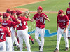 Rice's Owls (41-18) host the Arkansas Razorbacks (41-19) at Reckling Park for game 4 of the NCAA baseball D1 regionals. Arkansas scored on an error in the 2nd, but it was enough to win with a 1-0 score. Sat., Jun. 2, 2012. Houston, Tex. (Kevin B Long / GulfCoastShots.com)_