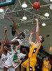 Kinkaid's Falcons and Sam Houston's somethings played varsity boys' basketball at the Powerade Texas Jamboree basketball tournament at Strake Jesuit.
