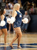 A member of Rice's dance team entertains the crowd during a timeout. The Rice Owls (15-11, 6-5) hosted the SMU Mustangs (11-14, 2-8) men's basketball team tonight at Tudor Court in Houston for Conference USA play. The Owls won 43-39, and secured the 599th win for head coach Ben Braun. Houston, TX. Sat., Feb. 11, 2012 (Kevin Long / GulfCoastShots.com)