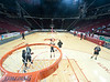 The Lady Mavericks of St. John's School play Lamar's Redskins at a special exhibition event at Toyota Center during the NBA strike on the Rockets' home court. Skins win 57-50