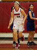 "The Dolphins of Anunciation Orthodox School (AOS) play the Lady Mavericks of St. John's School in 8th grade basketball. SJS fielded its ""A"" team."