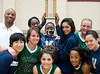 The Village School Lady Vikings take the home bench against Kinkaid at the Lady Falcon's Spring JV basketball invitational. The Vikings best the Falcons to win the championship and the trophy, 50-31.g