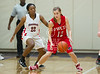 The Lady Mavericks of St. John's take on Ft. Worth Country Day's (FWCD) Falcons in first-round SPC varsity basketball at Kinkaid's Melcher Gym on Fri., Feb. 10, 2012. Mavs win to advance, 42-24. (Kevin B Long / GulfCoastShots.com)