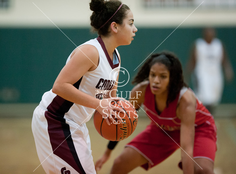 District 20-5A No. 3 seed Lamar takes on District 19-5A runner-up Cinco Ranch on Monday, Feb 13, 2012 at 8 p.m. at Stratford High School. The Lady Redskins were 9-5 in district play, while Cinco Ranch was 10-2. Lamar fell behind early, and never caught up in the bi-district playoff game. Cinco Ranch won it 52-30. (Kevin B Long / GulfCoastShots.com)