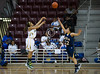 The Cypress Falls Lady Eagles play the Cypress Ridge in UIL women's regional quarterfinals 2012 Girls' Basketball Conference 5A playoffs at Campbell Center in Aldine. Cy-Falls extended their perfect 13-0 season for another win to advance to Regional Finals. Cy-Ranch's season ends. Aldine ISD M. O. Campbell Center, Tue., Feb 21, 2012. (Kevin B Long / GulfCoastShots.com)