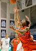 Jenzel Nash puts one up late in the first period. She scored 8 for UTEP in the game against Rice in Houston, a Sunday morning nationally-televised game the day of the Super Bowl. UTEP pulled away late to win it, 45-41.