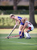 The Lady Falcons of Kinkaid play the Mavericks of St. John's in a preseason scrimmage of varsity field hockey teams. The game ended in a tie, 2-2.